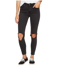 Free People High Rise Busted Skinny In Carbon Carbon Women's Jeans Gray