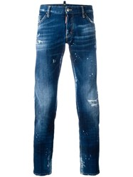 Dsquared2 Clement Bleached Distressed Jeans Blue