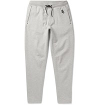 Nikelab Essentials Tapered Loopback Stretch Cotton Jersey Sweatpants Gray