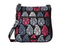Vera Bradley Triple Zip Hipster Northern Lights Cross Body Handbags White