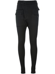A Tentative Atelier Twisted Skinny Trousers Black