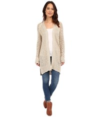 Brigitte Bailey Jenna Open Knit Cardigan Sand Women's Sweater Beige