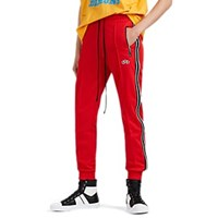 Amiri Leather Striped Tech Jersey Track Pants Red