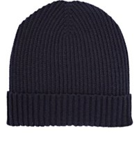 Barneys New York Men's Rib Knit Beanie Navy