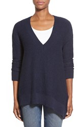 Women's Dex Oversize V Neck Sweater Navy Melange