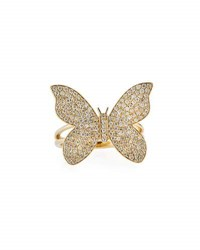 Sydney Evan Large Pave Diamond Butterfly Ring