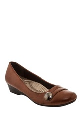 Godiva Wedge Heel Flat Brown