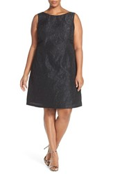 Adrianna Papell Plus Size Women's Back Cutout Floral Embroidered A Line Dress