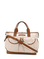 Brunello Cucinelli Contrast Trimmed Holdall 60