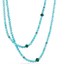 David Yurman Necklace With Amazonite And Green Onyx