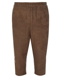By Walid Roy Vintage Damask Cotton Trousers Green