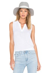 Three Dots Shania Tank White