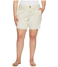 Jag Jeans Plus Size Somerset Relaxed Fit Shorts In Bay Twill Stone Women's Shorts White