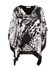 Windsmoor Butterfly Print Chiffon Tunic Black