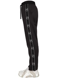Valentino Acetate Jogging Pants W Logo Bands Black