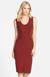 Women's Nydj Intarsia Knit Midi Dress