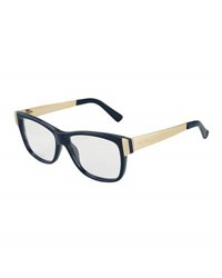 Gucci Two Tone Acetate Optical Glasses Blue Gold