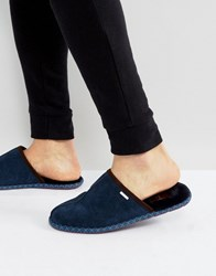 Ted Baker Youngi Slip On Mule Slippers Navy