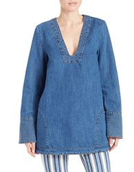 Free People Plunging Cotton V Neck Tunic