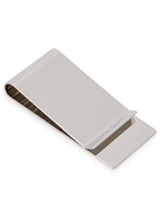 Gucci Engraved Silver Tone Money Clip