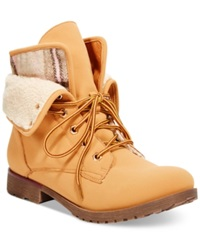Zigi Rock And Candy Spraypaint Combat Booties Women's Shoes Wheat Shearling