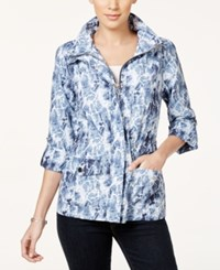 Styleandco. Style And Co. Sport Petite Printed Anorak Jacket Only At Macy's Blue Combo