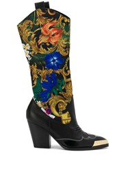 Versace Jeans Couture Baroque Panel Boots 60