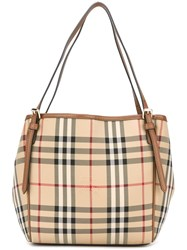 Burberry House Check Double Handled Tote Nude And Neutrals