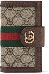 Gucci Leather And Chain Trimmed Printed Coated Canvas Iphone 7 And 8 Case Dark Brown Usd