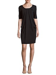 Lafayette 148 New York Solid Pleated Dress Ink