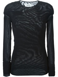 Aviu Sheer Long Sleeve T Shirt Black