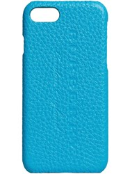 Burberry Logo Embossed Iphone 7 Case Blue