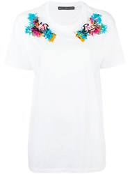 Marco Bologna Embroidered Shoulder T Shirt White
