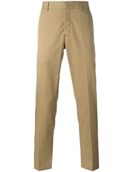 Lanvin Applique Stripe Trousers Nude Neutrals