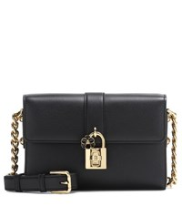 Dolce And Gabbana Leather Crossbody Bag Black