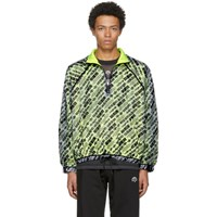 Adidas By Alexander Wang Originals Reversible White And Yellow Aw Windbreaker Jacket