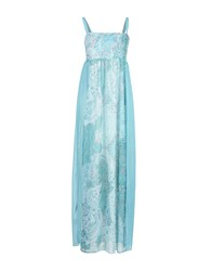 Lucky Lu Milano Long Dresses Turquoise
