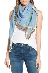 Steve Madden Women's Catalunya Tassel Wrap Denim