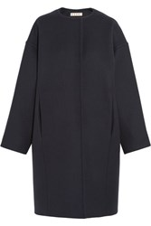 Marni Oversized Wool Felt Coat Navy