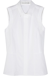 Victoria Beckham Sleeveless Cotton Poplin Shirt