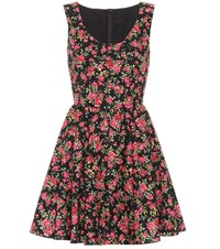 Dolce And Gabbana Printed Cotton Dress Black