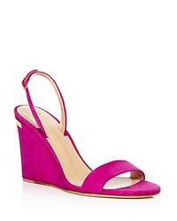 Giuseppe Zanotti Kloe Slingback Wedge Sandals Party Pink