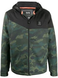Sun 68 Camouflage Print Hooded Jacket 60