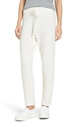 James Perse Women's Brushed Cashmere Sweatpants Ivory