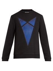 Raf Simons Arrow Print Cotton Jersey Sweatshirt Black Multi