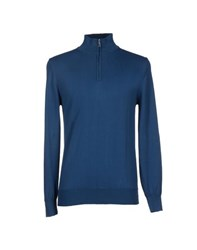Andrea Morando Knitwear Turtlenecks Men Dark Blue