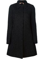 No21 Lace Overlay Mesh Coat Black