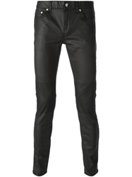 Blk Dnm Coated Skinny Jeans