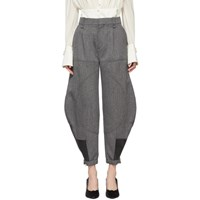 Chloe Black And White Cargo Trousers