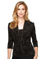 Alex Evenings Plus Glitter Detail Twinset Black Gold